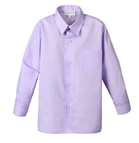 Spring Notion Big Boys' Long Sleeve Dress Shirt 4T Lilac