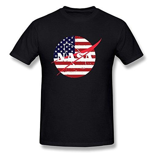 NASA Logo Adult T-shirt - Black