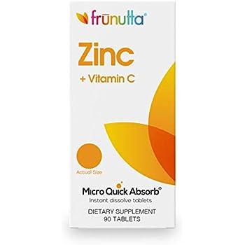 Frunutta Zinc 5 Mg Vitamin C 15 Mg 90 Instant Dissolve Tablets