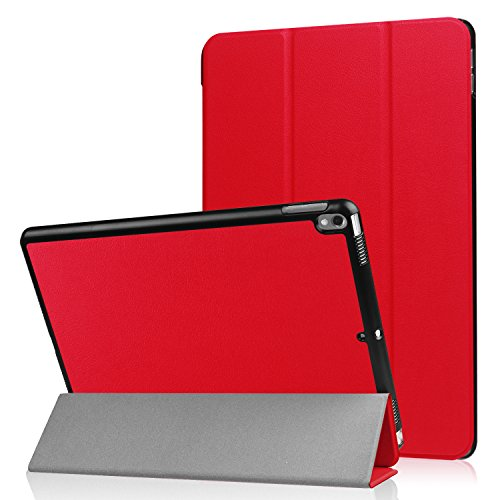 Tuff-luv Smart Faux Leather Case Cover & Stand for Apple iPad Pro 10.5 (2017) - Red