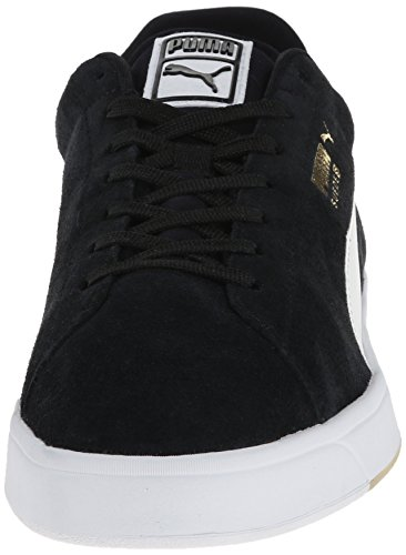 Puma Men's Suede S Lace-up Fashion Sneaker Black/White 6lWOoW36F4