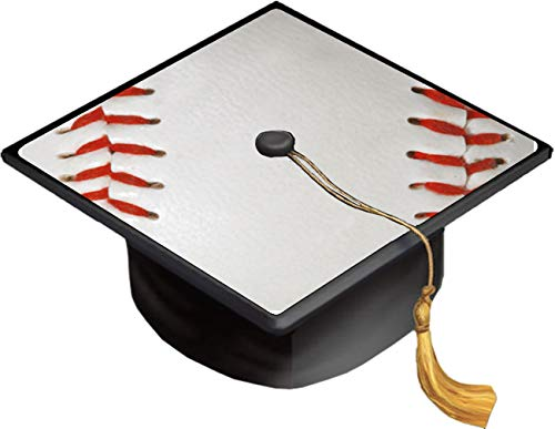 Baseball Base Ball Background Red Laces Grad Cap Decal - Vinyl Sticker Skin for Graduation Caps]()