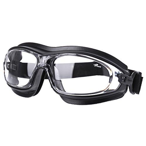 (HOWWOH Dust Wind Sandproof Shock Resistant Chemical Acid Splash Workplace Safety GoggleBlack)