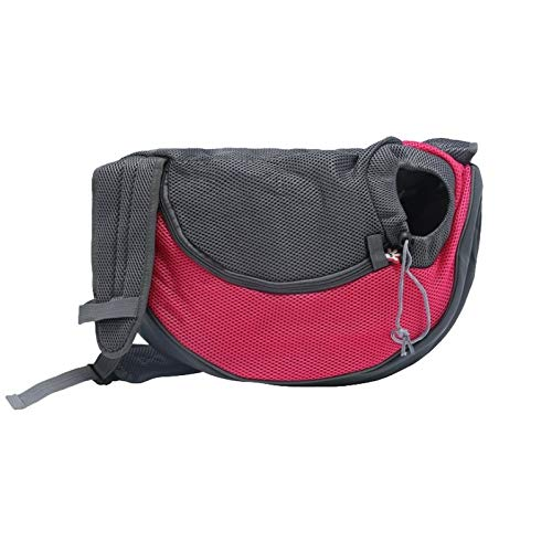 Red Large Red Large C-Xka Small Dog Cat Carrier Sling for Men Girls Hands-Free Pet Puppy Travel Bag Backpack