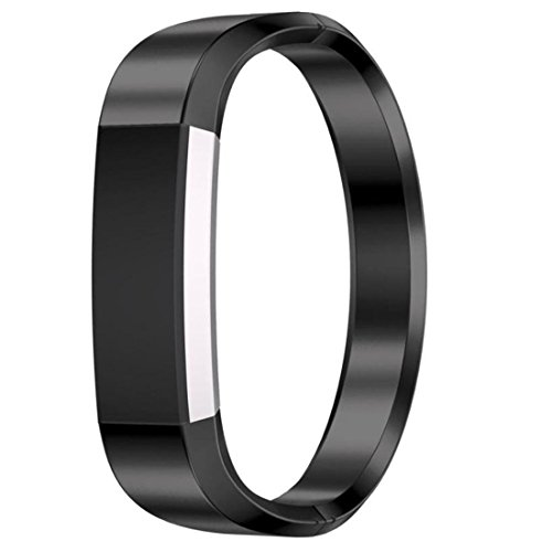 Price comparison product image Dreamyth Stainless Steel Watch Band Wrist strap For Fitbit Alta HR Smart Watch (Black)