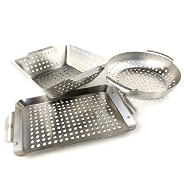Yukon Glory 3-Piece Mini BBQ Basket Accessory Set