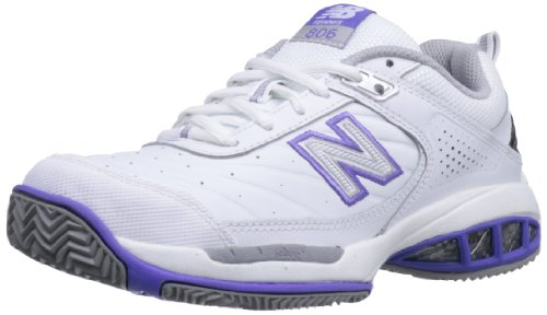 New Balance Women's WC806 Tennis Shoe,White,6 2E US