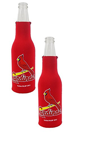 Official Major League Baseball Fan Shop Authentic MLB 2-Pack Insulated Bottle Cooler Bundle. Show Team Pride at Home, Tailgating or at The Game (St. Louis Cardinals)