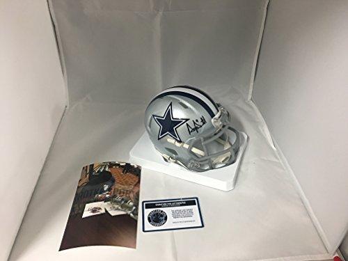 Dak Prescott Autographed Signed Dallas Cowboys Speed Mini Helmet COA (Autographed Dallas Cowboys Mini Helmet)