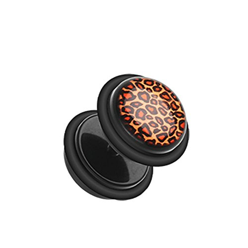 leopard print fake plugs - 6