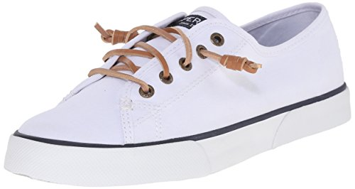 SPERRY Women's Pier View Sneaker, White, 8