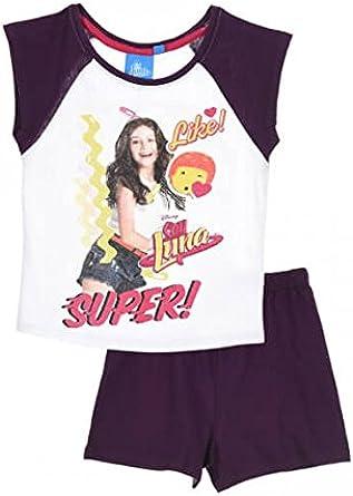 Soy Luna - Pijama - para niña Blanco morado: Amazon.es: Ropa