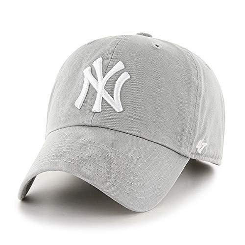 '47 Brand New York Yankees Clean Up Hat Cap Light Grey/White