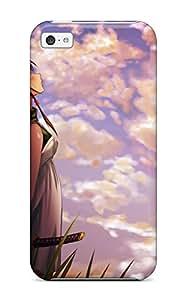 XiFu*MeiNew Premium Flip Case Cover Brunettes Clouds Dress Katana Grass Shortwhite Dress Skyscapesband Swordsornaments Skin Case For iphone 4/4sXiFu*Mei