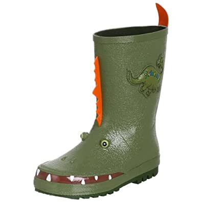 Kidorable Little Boys' Dinosaur Rain Boot , Green, 1
