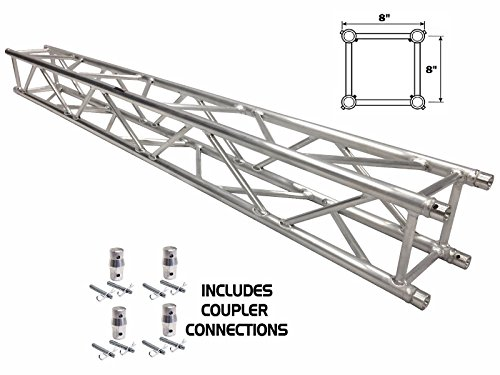 6.56FT (2 METER) STRAIGHT SQUARE ALUMINUM TRUSS SEGMENT FOR PRO AUDIO LIGHTING by Cedarslink
