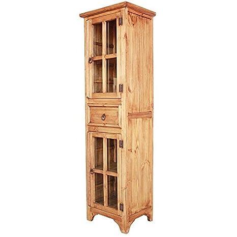 Amazon.com: Mexican Rustic Pine Kitchen Cabinet: Kitchen ...