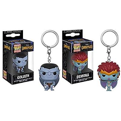 POP Keychains: Disney – Gargoyles Goliath and Demona Set: Toys & Games