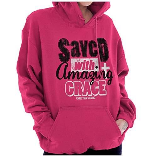 - Saved Amazing Grace Jesus Christ Christian Hoodie