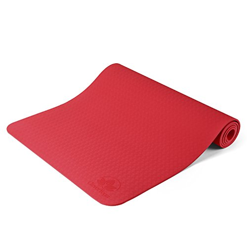 Clever Yoga Non-Slip 6mm Yoga Mat - Rose Red