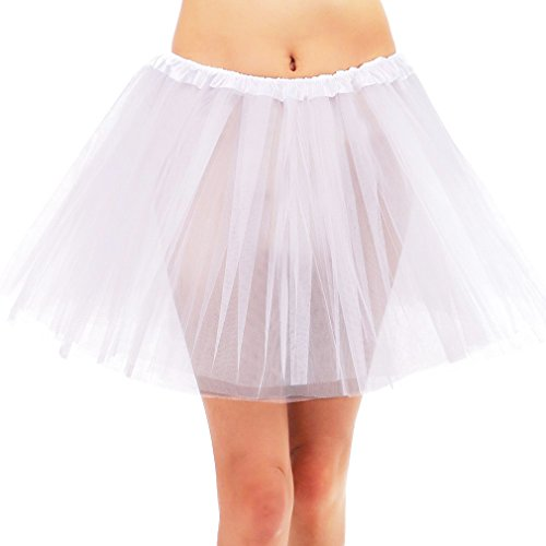 Simplicity 3 Layered Ballerina Tutu Running Costume W/Stretch Waist,White