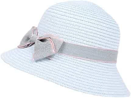 fe5c50863df33 Vielgluck 5-8 Years Old Children Bow Travel Bohemian Hats Beach Sun Hat  Basin Caps