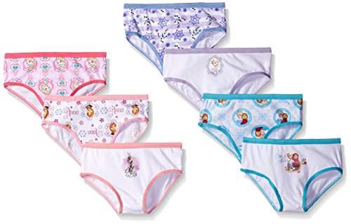 Disney Big Girls' Frozen Hipster, Assorted, 4 (Pack of 7)