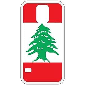 Lebanon Flag White Samsung Galaxy S5 Cell Phone Case - Cover