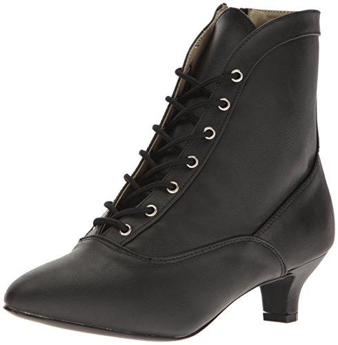 Fab1005 Stiefelette mit Schnürsenkeln und kurze Ferse matt schwarz ...