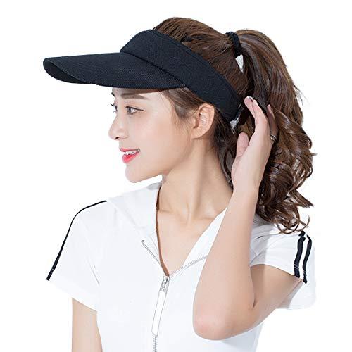 - WETOO Womens Sun Visor Golf Tennis Sports Hat Long Peak Adjustable Wide Brim Cap for Running Jogging