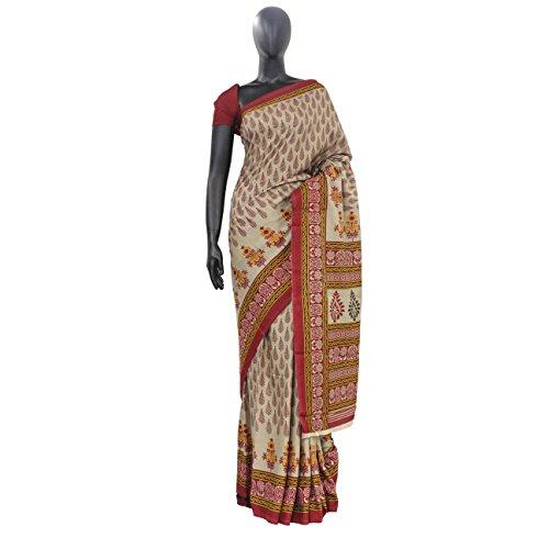 The Holy Mart kalamkari cotton saree ()