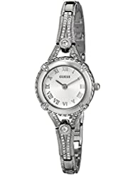 GUESS Women's Stainless Steel Petite Vintage Inspired Watch, Color: Silver-Tone (Model: U0135L1)