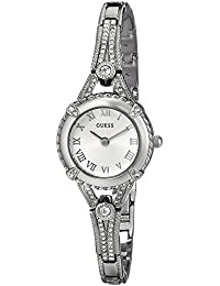 Petite Silver-Tone Crystal Bracelet Watch with Self-Adjustable Links. Color: Silver-Tone (Model: U0135L1)