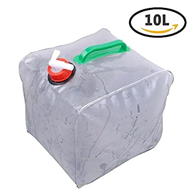 10L/2.5 Gallon Portable Water Carrier Bag Outdoor Collapsible Emergency Cube Water Tank Storage Container for Camping Hiking Climbing Backpacking