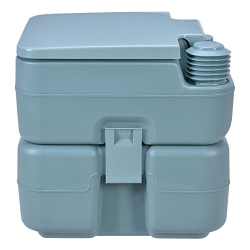 20L Easy Carry & Clean Portable TravelFlush Toilet Greenish Gray Potty by FDInspiration (Image #2)