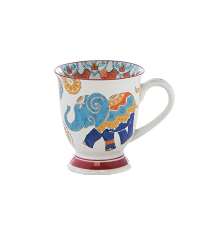 Shiraleah Home Raj Elephant Mug, Multicolor (Raj Elephant)