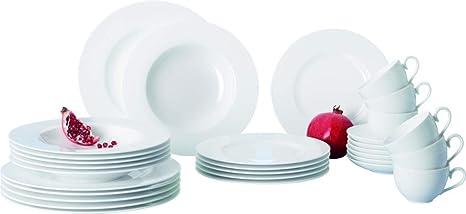 Villeroy & Boch Royal Basic Set Vajilla de porcelana bone de alta calidad como equipamiento básico
