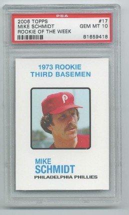 Amazoncom Mike Schmidt Psa Graded 10 Baseball Card 2006