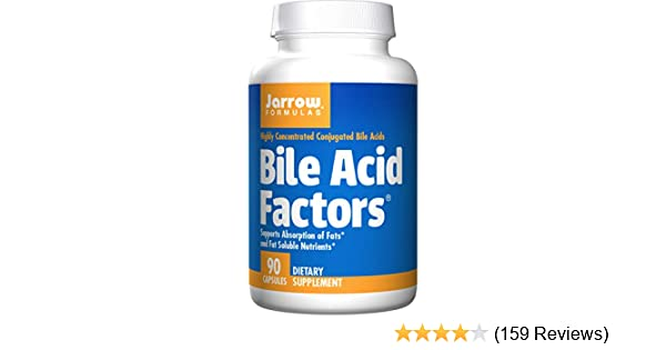 Jarrow Formulas Bile Acid Factors, Supports Absorption of Fats, 90 Caps