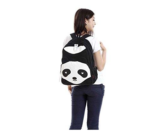 Honeysuck carino a forma di panda scuola borse di tela casual stile viaggiare zaino
