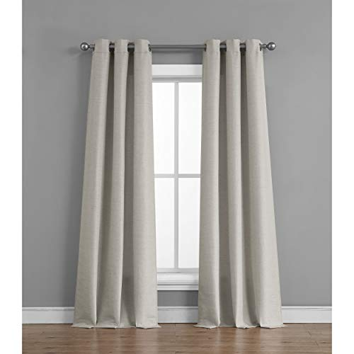 Faux Panel Window Silk (Tribeca Home Raw Faux Silk Curtain Panel Pair, 76 in. x 96 in, Light Grey)