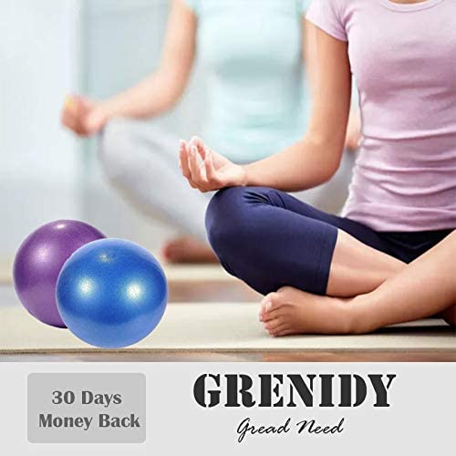 Yoga Goonidy Pilates Ball//Barre Ball//Small Exercise Ball//Mini Yoga Ball 9 Inch Bender Ball for Stability Barre Home /& Gym /& Office Core Training and Physical Therapy Pilates