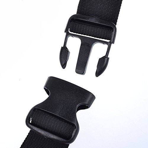 lenhar Verstellbarer Gurt Reise Sport Laufen Hüfttasche mit Wasserflasche Aufbewahrung Netz Tasche (schwarz)
