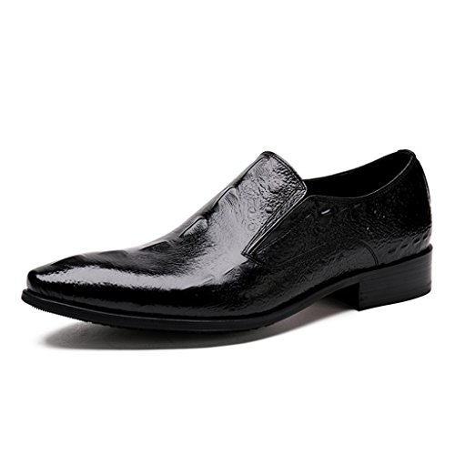 Herren Lederschuhe Männer Lederschuhe formelle tragen wies britische Art Breathable Single Schuhe Business Herrenschuhe ( Farbe : Schwarz , größe : EU39/UK6 ) Schwarz