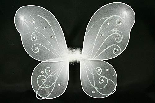 "1 - (17"" x 13"") Butterfly Fairy Costume Wings White Color Tkdream from Unknown"
