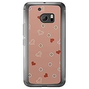 Loud Universe HTC M10 Love Valentine Printing Files Valentine 149 Printed Transparent Edge Case - Red & White