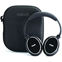 Coosh Extended Range Wireless Bluetooth 4.0 Headphones, with Carrying Case
