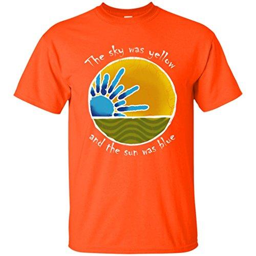 Sky was Yellow Sun was Blue - Scarlet Begonias Inspired Shirt (Orange, 3X)