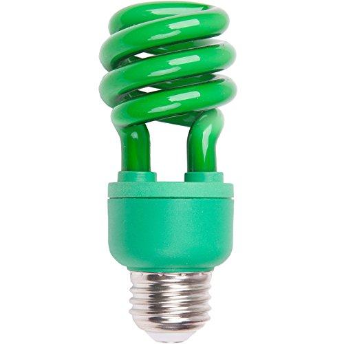 13-watt (60w) Medium Base Green Decorative CFL (Decorative Cfl)