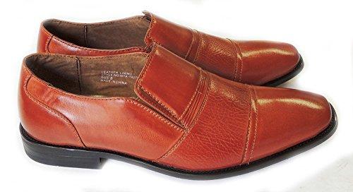 Nieuwe Ferro Aldo Mode Heren Lederen Gevoerde Jurk Schoenen Loafers Slip Op Mfa19279a / Bruin